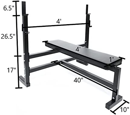 Ader Olympic Bench Press w 300lb Black Olympic Set