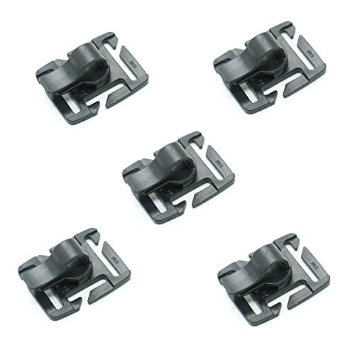 HUELE Pack of 5 Tactical Military Hydration Tube Clips Water Tube Clip