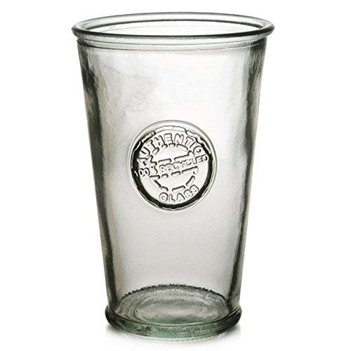 Authentic Recycled Glas Trinkgläser/300ml-Set 6Stück-Vintage Glas Highball Gläser grün