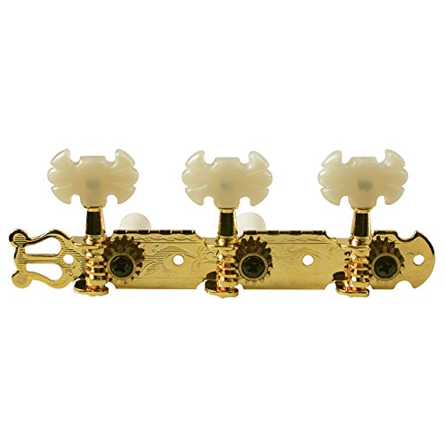 Golden Gate F-2102 Classical Guitar Tuners - 2 Planks (3+3) - Gold by Golden Gate