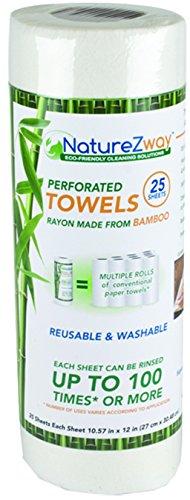 NatureZway Bamboo Perforated Towels Rayon Made from Bamboo, 25 Sheets