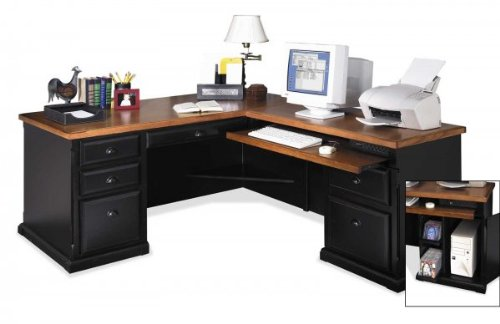 kathy ireland Home by Martin Southampton Left L-Shaped Desk (Collection Southampton Cottage)