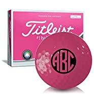 Titleist Velocity Pink Monogram Personalized Golf Balls