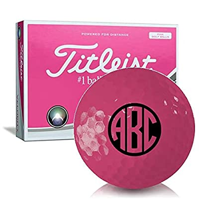 Titleist Velocity Pink Monogram Personalized Golf Balls