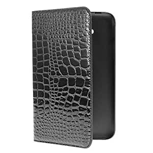 FJM Crocodile Skin Pattern PU Leather Face with PC Cover Full Body Case for Samsung Galaxy Tab 3 Lite T110