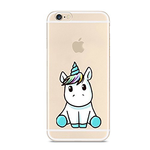 - iPhone 6 6S Case,Cute Unicorn Pattern on Soft TPU Silicone Protective Skin Ultra Slim & Clear with Funny Design Gift Bumper Back Cover for iPhone 6/6s,Baby Unicorn