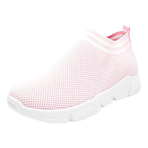 Tenthree Sneaker Camminare Rosa 1 Traspirante Scarpe Leggero Maglia Casual Mesh Comfort Correre Donne Ginnastica Fitness A Da Atletico Calzino rYfxCpwrq