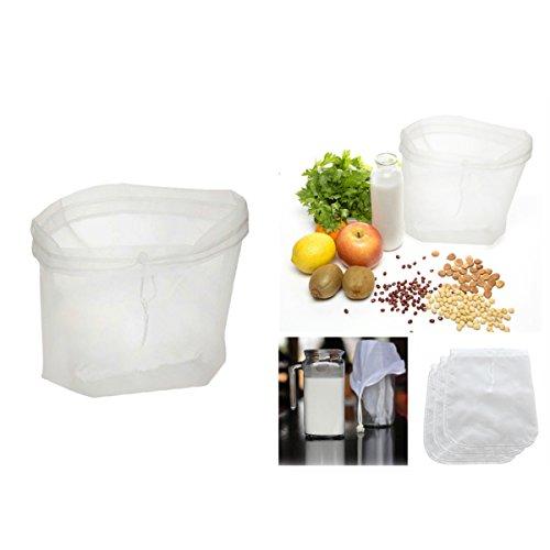 Besto nzon nogal de leche Bolsa, reutilizables Nylon feinmasch ennah de Colador Bolsa, Food Grade filtro para almendra Leche, Café, casa Infusión Zumo: ...