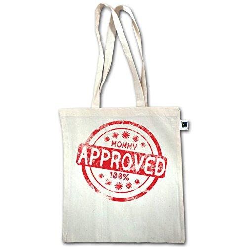 Kinder - Mommy approved - Unisize - Natural - XT600 - Baumwolltasche Jutebeutel Stoffbeutel lange Henkel