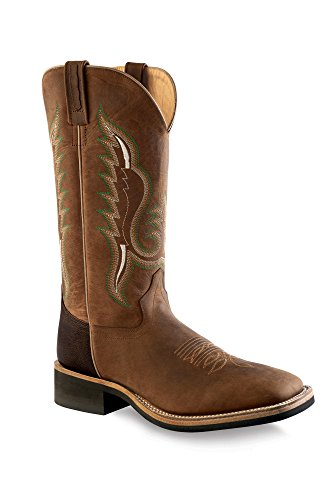 Old West Men's Cowboy Boot Square Toe Brown 10 D(M) US