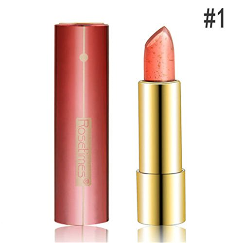 ShungHO 1PC Lipstick Temperature Color Changing Magic Flower Jelly Lip Gloss Lip Care