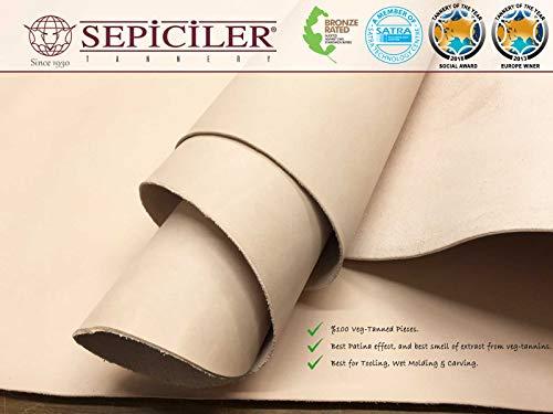 Import Tooling Veg Tan Single Cowhide Leather Shoulder 8/9 oz.4-6 SQF by SEPICI (Image #6)