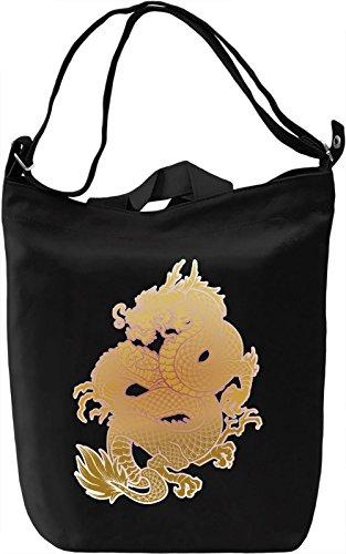 Dragon Borsa Giornaliera Canvas Canvas Day Bag| 100% Premium Cotton Canvas| DTG Printing|