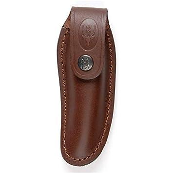 Electropolis Funda vaquetilla Muela F/PQ, para navajas y Cuchillos Muela PQ, Color marrón, Dimensiones 150 x 55 mm