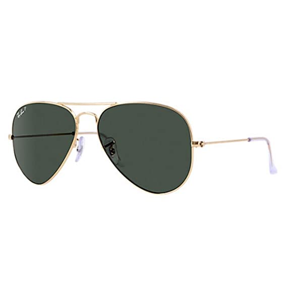 58894f56c Ray-Ban RB3025 Aviator Arista Green Polarised Sunglasses: Amazon.co.uk:  Clothing