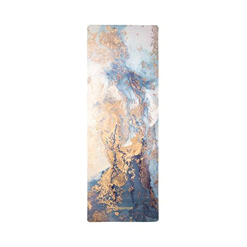 ''Dream Catcher No.3-Blue'' Designer Yoga Mat by Sugarmat I Eco Luxury and Non-slip I Designed in Montreal I Ideal for Yoga, hot yoga, Pilates I Machine washable I Non-faded color I Include yoga strap by Sugarmat