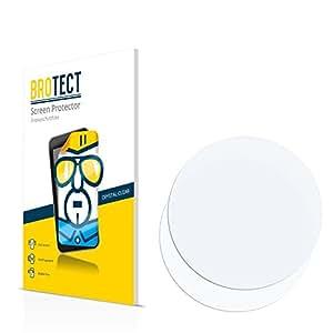 2x BROTECT HD-Clear Protector Pantalla Relojes (circular, Diámetro: 51mm) Película Protectora – Transparente, Anti-Huellas