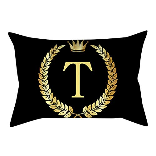 Duseedik for Friends Pillow Cover Black and Gold Letter Pillowcase Sofa Cushion Cover Home Decor