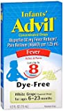 Advil Infants' Concentrated Drops Dye-Free White Grape Flavored - 0.5 oz, Pack of 4