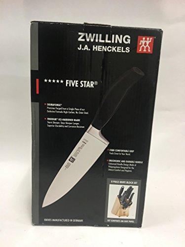 ZWILLING J.A. Henckels Five Star 8-Piece Knife Block Set