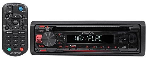 Kenwood KDC-115U In-Dash 1-Din Car CD Player Receiver Stereo MP3/USB/Aux+Remote (Kenwood Indash Cd Player)