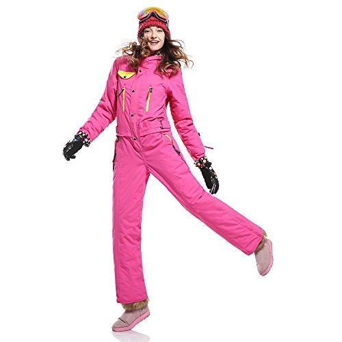 Rose Ski Red Winter Suits Snowboard Proof sportivo impermeabile Saenshing Abbigliamento Wind Women BwpZUU