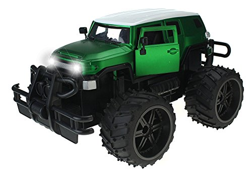 FJ Cruiser Cross Country 1:14 Scale Battery Operated Remote Controlled 4WD 2.4 GHz Toy RC Jeep Truck w/ Remote Control,& Door Opening Action - Country Cruiser