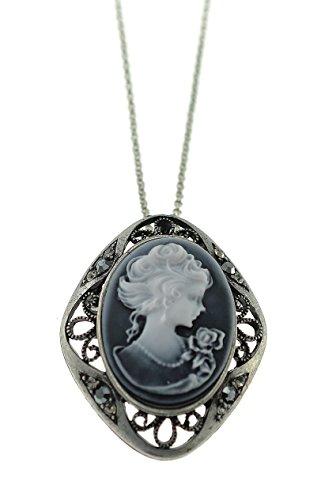 Shagwear Vintage Textured Rhinestone Necklace