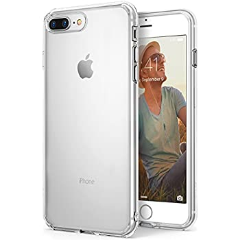 Apple iPhone 8 Plus Case Ringke [AIR] Weightless as Air, Extreme Lightweight Transparent Soft Flexible TPU Scratch Resistant Protective Case for Apple iPhone 8 Plus - Clear