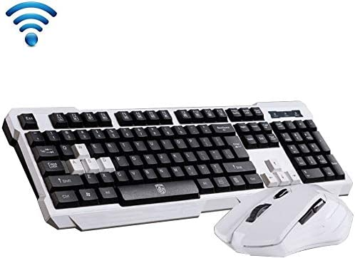 UrChoiceLtd® Delog V60 Multimedia ergonómico USB Wireless Gaming Teclado + 2,4 GHz 1000/1600dpi 3/6 Botones USB inalámbrico ratón para Juegos Set: Amazon.es: Electrónica
