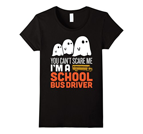 School Bus Driver Costume (Womens Funny Scary School Bus Driver Halloween Costume Tshirt XL Black)