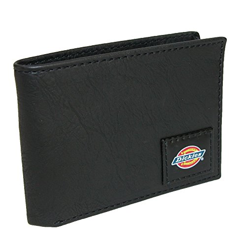 Dickies Mens Wallet with Chain - Security Bifold Truckers Classic Slim Thin Single Fold with ID Window