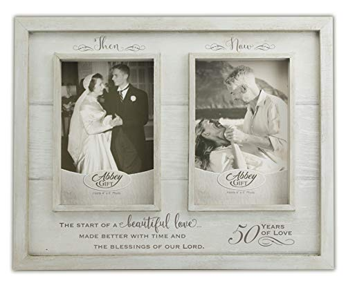 Abbey Gift Then & Now 50Th Anniversary Wood Frame, 12