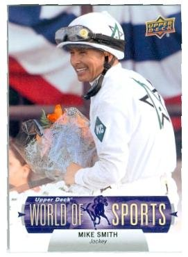 Mike Smith trading card (Horse Jockey Kentucky Derby Champion) 2011 Upper Deck #294 World of Sports