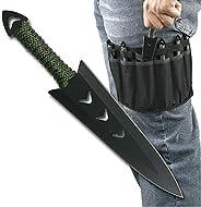 Snake Eye Tactical Throwing Knife Set 6 inch with Nylon Sheath 6PC Set