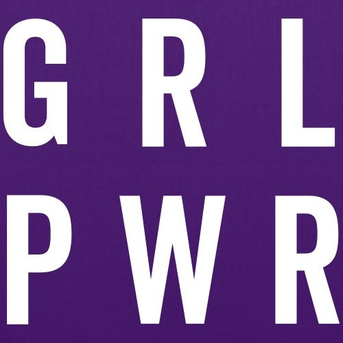 Violet Tote Féminisme Spreadshirt Power Girl Bag 7txOX