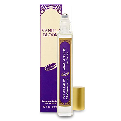 Vanilla Bloom Perfume Oil Roll-On (No Alcohol) Vanilla Oil Fragrance - Essential Oils and Perfumes for Women and Men by Zoha Fragrances, 9 ml / 0.30 fl Oz
