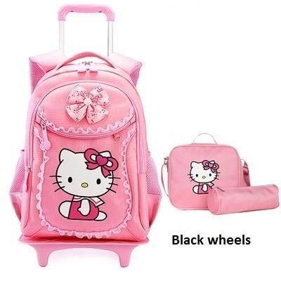 Amazon.com: Children School Bags Kids Backpacks Wheel ...