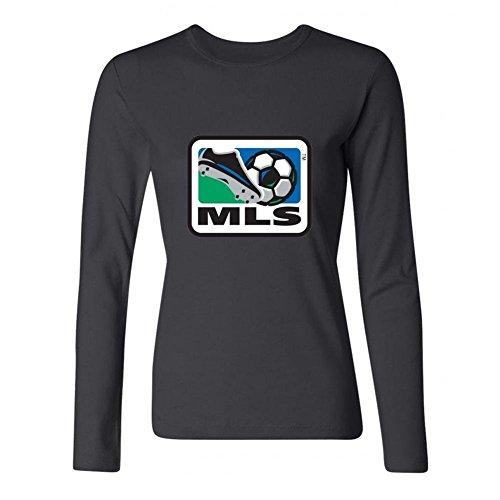 XIULUAN Women's Major League Soccer Logo Long Sleeve T-shirt Size L ColorName (Major Johnson T-shirt)