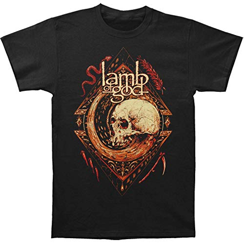 Lamb of God Mori Wheel Short Sleeve T-Shirt-Large Black -