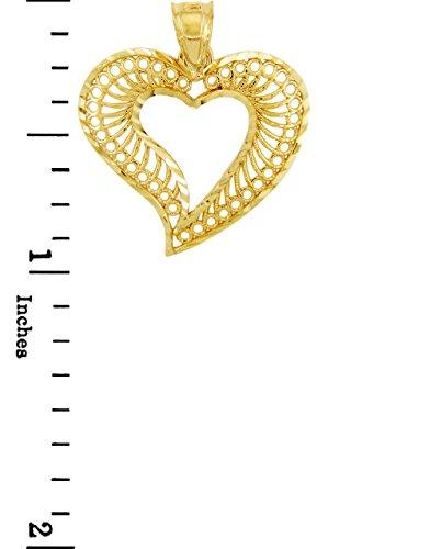 10 ct 471/1000 Or Spirale Coeur- Pendentif