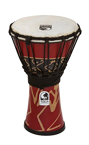 Toca SFDJ-7RP Freestyle Rope Tuned 7-Inch Djembe - Bali Red Finish by Toca