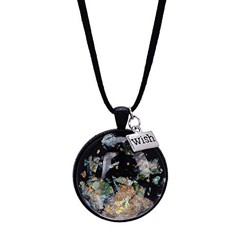 Pattern Leather Jewelry Iridescent Necklace