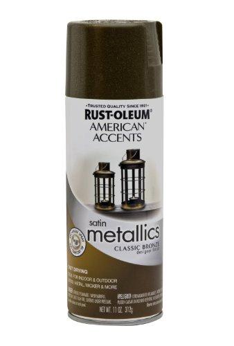 (Rust-Oleum 202642 American Accents Topcoat Designer Metallic Spray Paint, 12 Oz Aerosol Can, Classic, 11 oz, Bronze)