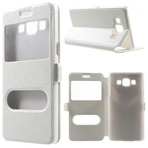 del teléfono celular Caso Caja Cubierta de negocios Flip Samsung Galaxy A5 / SM-A500F - SMARTBOOK de pie blanco