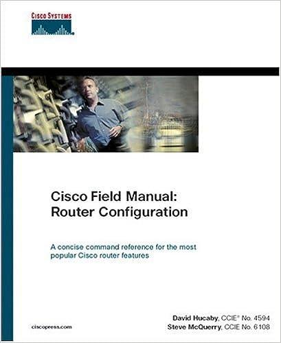 Cisco Field Manual: Router Configuration: 0619472050248: Computer