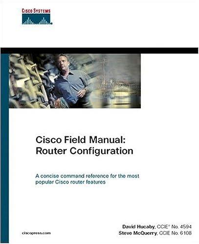 cisco field manual router configuration 0619472050248 computer rh amazon com Cisco Home Router Setup Cisco Router Setup