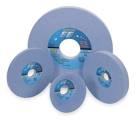 Grinding Wheel, T1, 14x1-1/2x5, CA, 46G, Blue by Norton Abrasives - St. Gobain