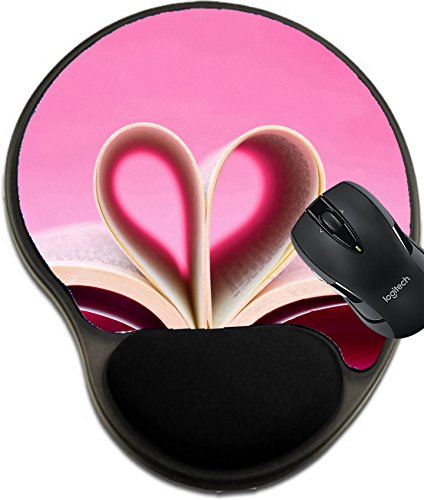 MSD Mousepad wrist protected Mouse Pads/Mat with wrist support Pages of a book curved into a heart shape Image 13693496 Customized Tablemats Stain Resistance Collector Kit Kitchen Table Top DeskDrink