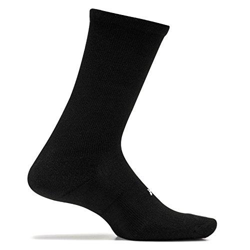 Feetures! Men's High Performance Cushion Crew, Black, Sock Size:10-13/Shoe Size: 6-12